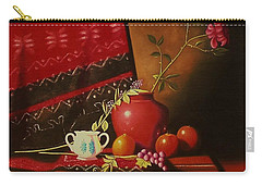Still Life With Red Vase. Carry-all Pouch