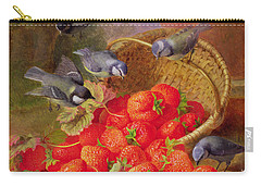 Still Life With Strawberries And Bluetits Carry-all Pouch