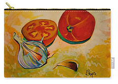 Still Life With Tomatoes And Garlic Carry-all Pouch