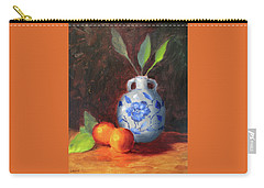Still Life With Vase And Fruit Carry-all Pouch