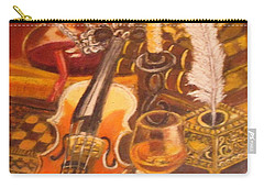 Still Life With Violin And Candle Carry-all Pouch
