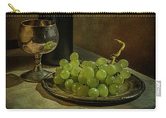 Still Life With Wine And Green Grapes Carry-all Pouch