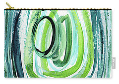 Still Orbit 9- Abstract Art By Linda Woods Carry-all Pouch