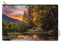 Stillaguamish Sunset Carry-all Pouch by Charlie Duncan