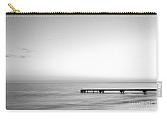 Carry-all Pouch featuring the photograph Stillness In Black And White by Ivy Ho