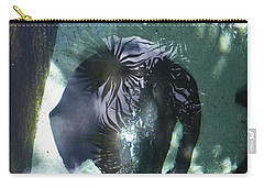 Carry-all Pouch featuring the photograph Stingray Swim V by Francesca Mackenney