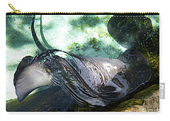 Carry-all Pouch featuring the photograph Stingray Wave by Francesca Mackenney