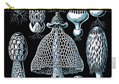 Carry-all Pouch featuring the drawing Stinkhorn Mushrooms Vintage Illustration by Edward Fielding