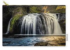 Carry-all Pouch featuring the photograph Stjornarfoss In Afternoon Light by Rikk Flohr