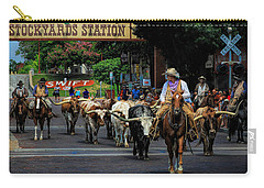 Stockyards Cattle Drive Carry-all Pouch by David and Carol Kelly