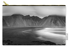 Stokksnes Iceland Bandw Carry-all Pouch by Gunnar Orn Arnason