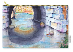 Stone Arch Bridge Dunstable Carry-all Pouch by Carlin Blahnik