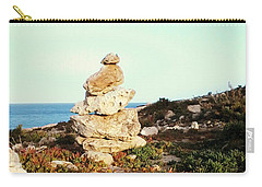 Carry-all Pouch featuring the photograph Stone Balance by Lucia Sirna