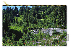 Stone Bridge And Wildflowers Carry-all Pouch