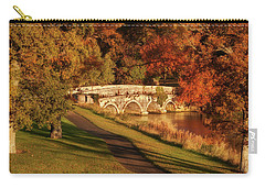 Carry-all Pouch featuring the photograph Stone Bridge On The Rye Water - Kildare, Ireland by Barry O Carroll