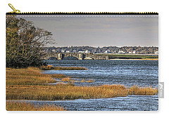 Carry-all Pouch featuring the photograph Stone Bridge At Mills Gut Colt State Park by Tom Prendergast