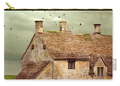Stone Cottage And Stormy Sky Carry-all Pouch by Jill Battaglia
