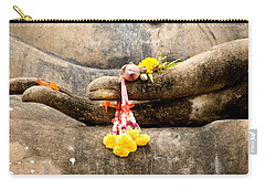 Stone Hand Of Buddha Carry-all Pouch by Adrian Evans