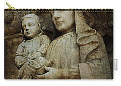 Stone Madonna And Child Carry-all Pouch