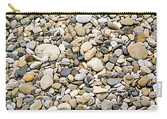 Carry-all Pouch featuring the photograph Stone Pebbles Patterns by John Williams