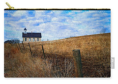 Stone Schoolhouse On The Kansas Prairie Carry-all Pouch