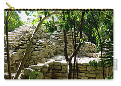 Carry-all Pouch featuring the photograph Stone Steps In The Jungle by Francesca Mackenney