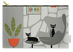 Stone Wall Gray Tones Carry-all Pouch