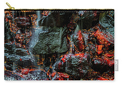 Carry-all Pouch featuring the photograph Stone, Water And Color by Ken Frischkorn