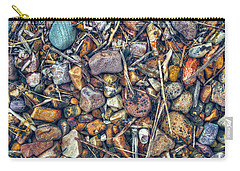 Carry-all Pouch featuring the photograph Dry Creek by Wayne Sherriff
