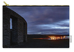 Carry-all Pouch featuring the photograph Stonehenge And The Columbia by Cat Connor