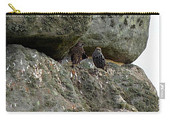 Carry-all Pouch featuring the photograph Stonehenge Birds by Francesca Mackenney