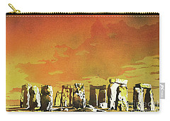 Stonehenge Ruins Carry-all Pouch by Ryan Fox