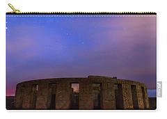 Carry-all Pouch featuring the photograph Stonehenge Sunrise by Cat Connor