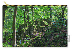 Stones In A Forest In Vogelsberg Carry-all Pouch