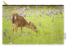 Stop And Smell The Bluebonnets. Carry-all Pouch