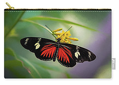 Carry-all Pouch featuring the photograph Butterfly, Stop And Smell The Flowers by Cindy Lark Hartman