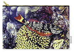 Carry-all Pouch featuring the photograph Stoplight Parrotfish Initial Phase by Perla Copernik