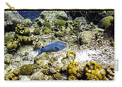 Carry-all Pouch featuring the photograph Stoplight Parrotfish  by Perla Copernik