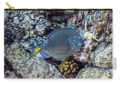 Carry-all Pouch featuring the photograph Stoplight Parrotfish Terminal Phase by Perla Copernik