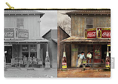 Carry-all Pouch featuring the photograph Store - Grocery - Mexicanita Cafe 1939 - Side By Side by Mike Savad
