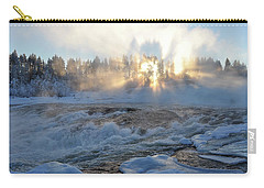 Storforsen, Biggest Waterfall In Sweden Carry-all Pouch by Tamara Sushko