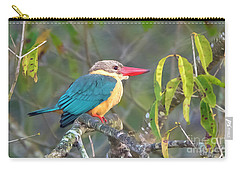 Carry-all Pouch featuring the photograph Stork-billed Kingfisher by Pravine Chester