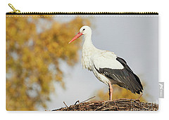 Stork On A Nest, Trees In The Background Carry-all Pouch