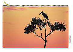 Stork On Acacia Tree In Africa At Sunrise Carry-all Pouch