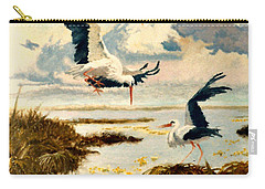 Storks II Carry-all Pouch by Henryk Gorecki