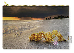 Storm And Sea Shell On Sanibel Carry-all Pouch by Greg Mimbs
