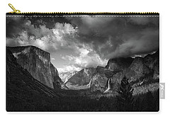 Storm Arrives In The Yosemite Valley Carry-all Pouch