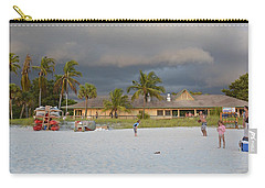 Carry-all Pouch featuring the photograph Storm Clouds Arriving by Carol  Bradley
