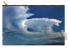 Carry-all Pouch featuring the photograph Storm Clouds by Chris Tarpening