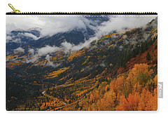 Carry-all Pouch featuring the photograph Storm Clouds Over Mcclure Pass During Autumn by Jetson Nguyen